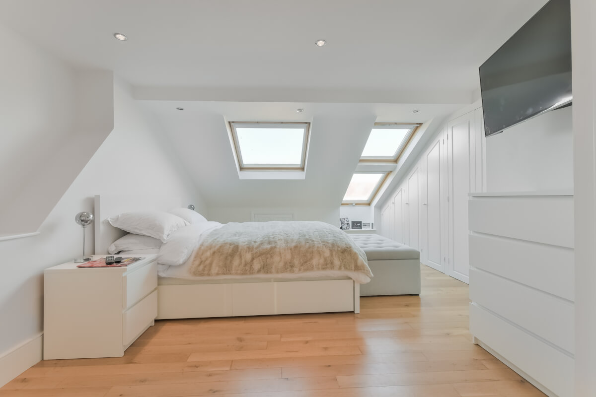 New loft conversion, white and birght, modern